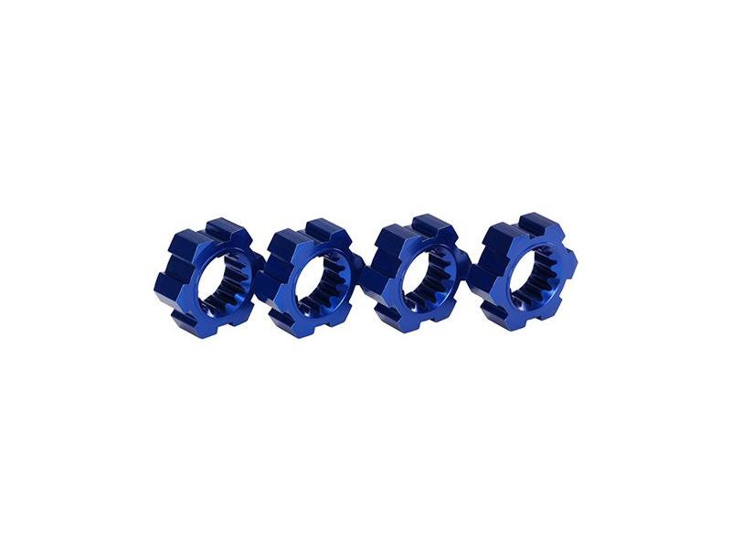 X-Maxx: Náboje kol hliníkové modré s klipy (2), TRA7756X, Traxxas 7756X