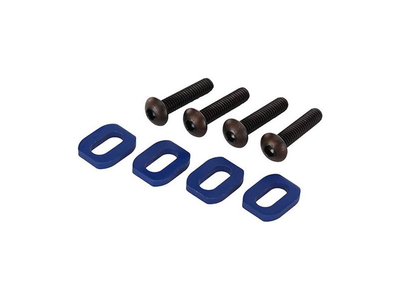 X-Maxx: Podložky pod šrouby motoru hliníkové modré, TRA7759, Traxxas 7759