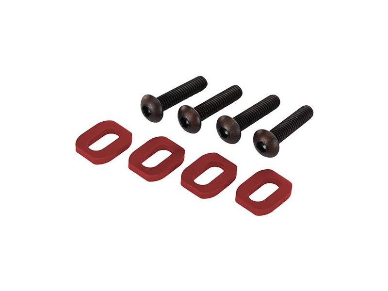 X-Maxx: Podložky pod šrouby motoru hliníkové červené, TRA7759R, Traxxas 7759R