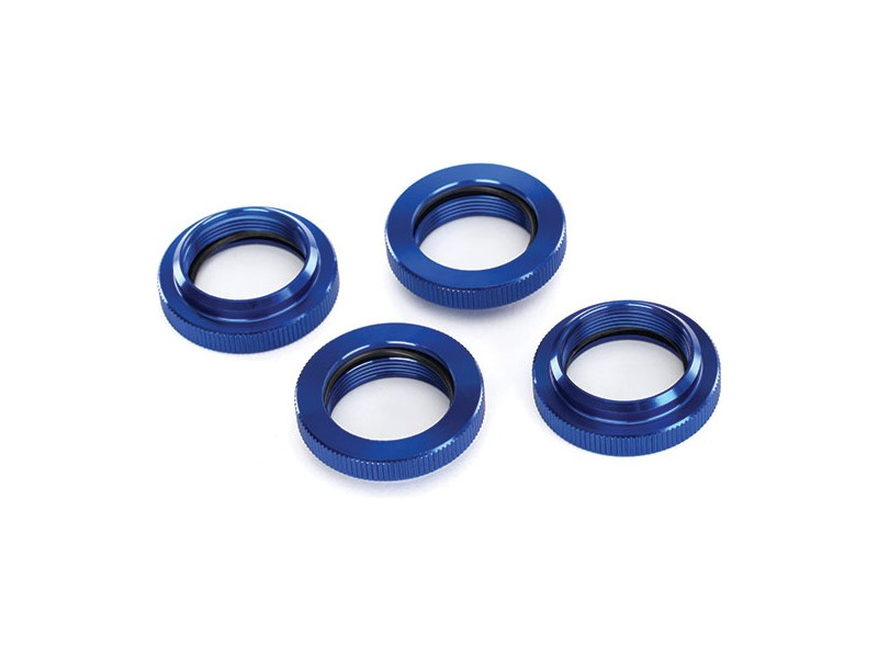 Tlumič GTX: Stavěcí matice pružiny hliníková modrá, TRA7767, Traxxas 7767