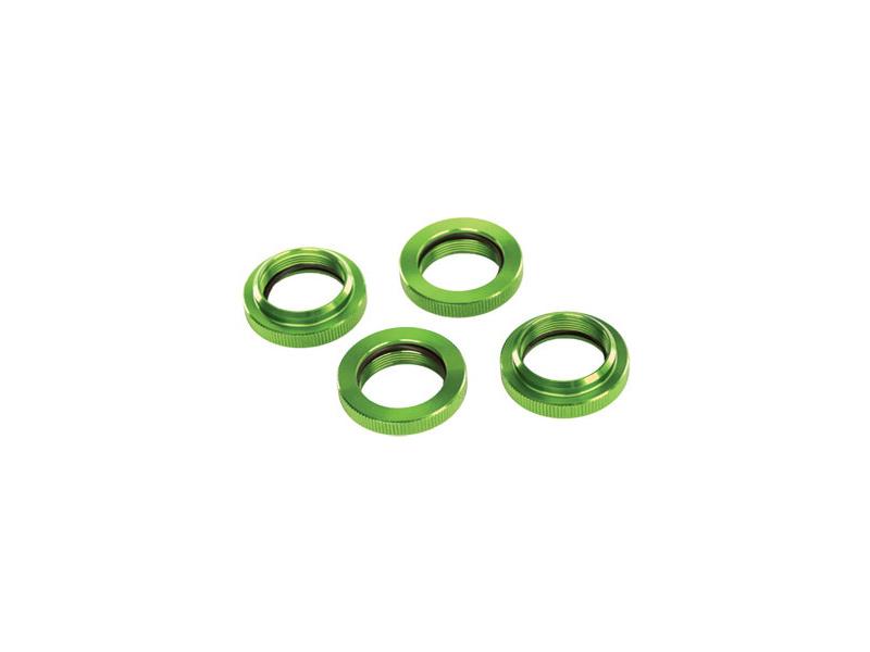 Tlumič GTX: Stavěcí matice pružiny hliníková zelená (4), Traxxas 7767G , TRA7767G