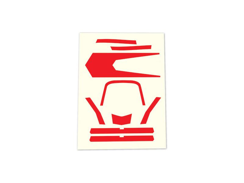 Aton: Samolepky červené, Traxxas 7980 , TRA7980