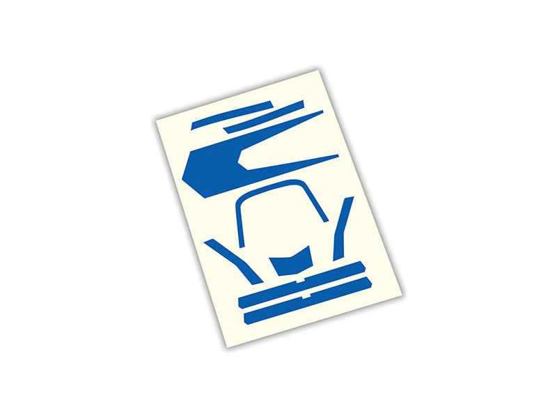 Aton: Samolepky modré, Traxxas 7981 , TRA7981