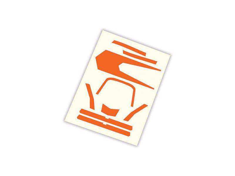 Aton: Samolepky oranžové, Traxxas 7982 , TRA7982