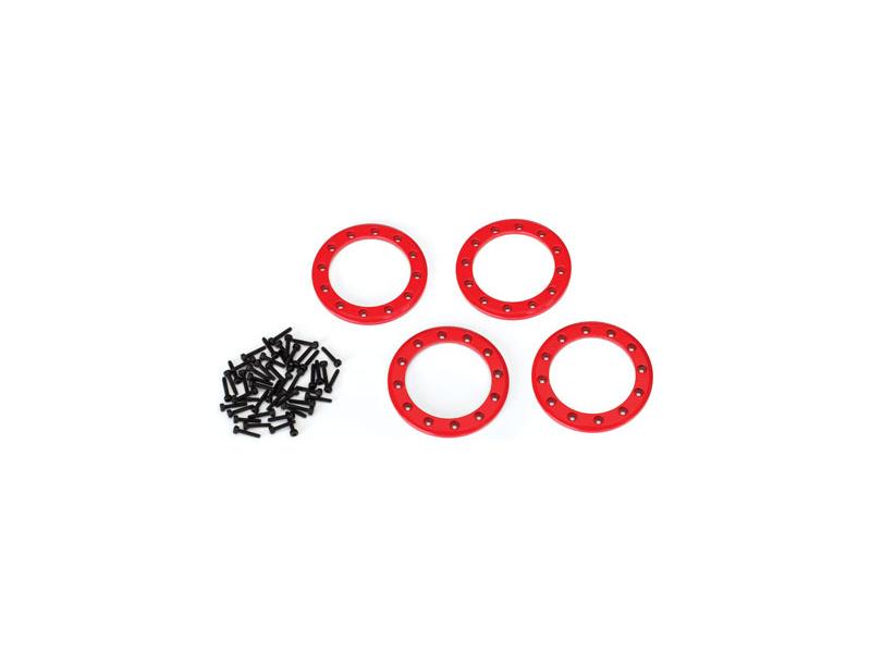 """Traxxas hliníkový Beadlock kroužek 1.9"""" červený (4), TRA8169R, Traxxas 8169R"""