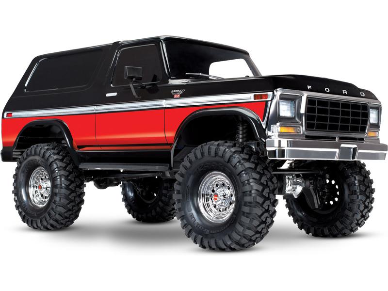Traxxas TRX-4 Ford Bronco 1:10 TQi RTR červené, TRA82046-4-RED