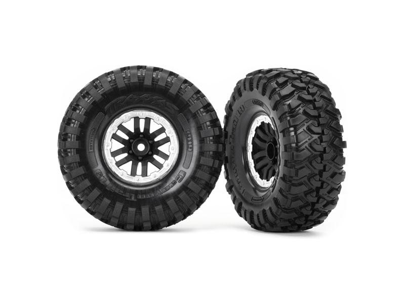 "Traxxas kolo 1.9"", disk TRX-4 Sport černý, pneu Canyon Trail (pár), Traxxas 8272X, TRA8272X"