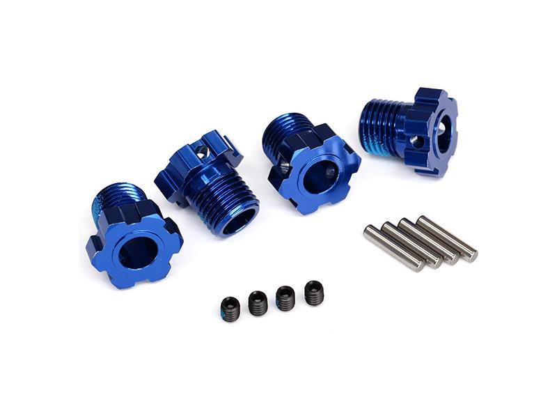 Traxxas náboj kola hliníkový modrý 17mm (4), Traxxas 8654 , TRA8654