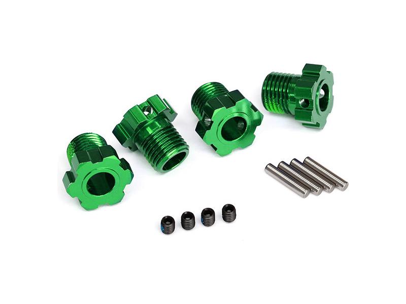 Traxxas náboj kola hliníkový zelený 17mm (4), Traxxas 8654G , TRA8654G