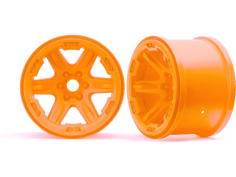 """Traxxas disk 3.8"""" oranžový (2) 17mm drážkovaný, Traxxas 8671A , TRA8671A"""