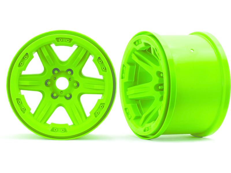 """Traxxas disk 3.8"""" zelený (2) 17mm drážkovaný, Traxxas 8671G , TRA8671G"""