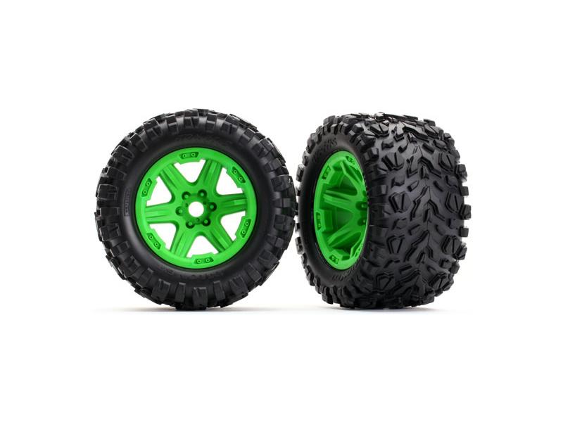 """Traxxas kolo 3.8"""" zelené, pneu Talon EXT s vložkou (2), Traxxas 8672G , TRA8672G"""