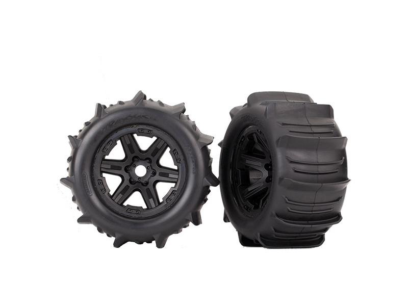 "Traxxas kolo 3.8"" černé, pneu Paddle (2), TRA8674, Traxxas 8674"