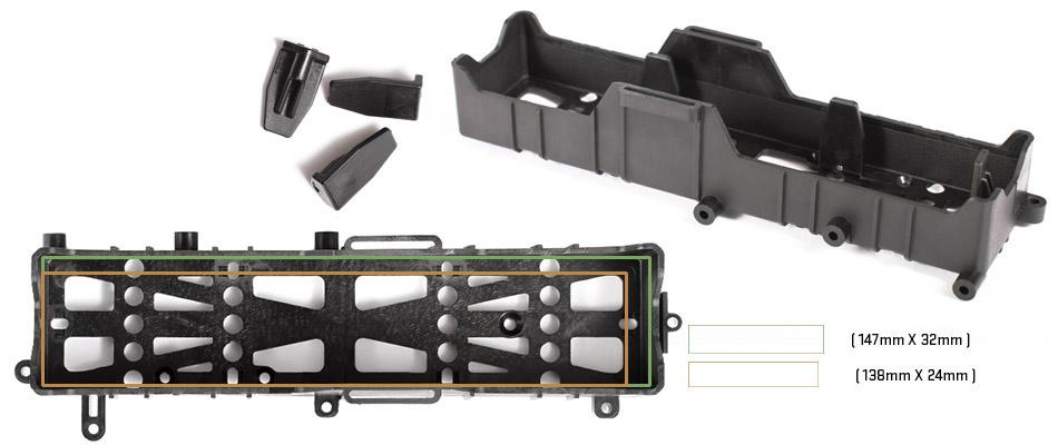 Axial SCX10 II - uložení baterie