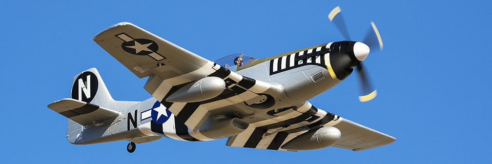 P-51D Mustang 1.2m BNF Basic SAFE