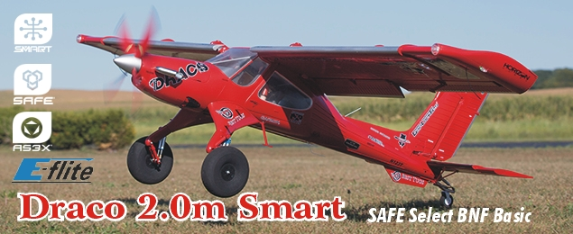E-flite Draco 2.0m Smart SAFE Select BNF Basic