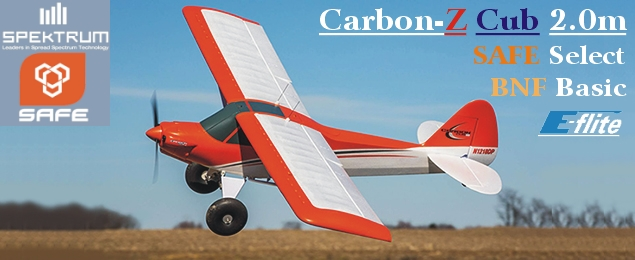 E-flite Carbon-Z Cub 2.0m SAFE Select BNF Basic