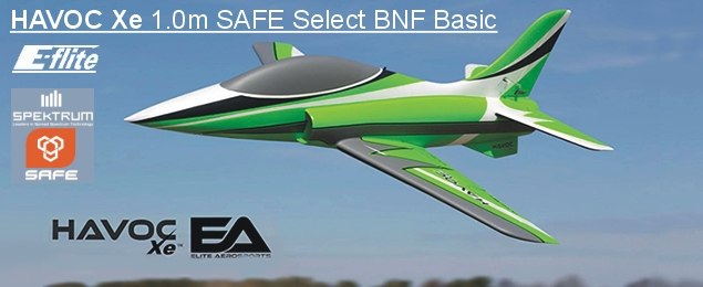 E-flite HAVOC Xe 1.0m SAFE Select BNF Basic