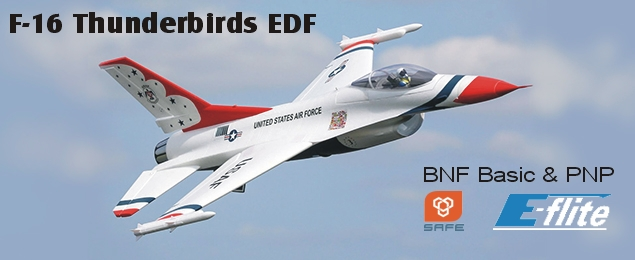 F-16 Thunderbirds 0.8m SAFE Select BNF Basic