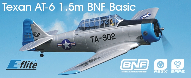 E-flite Texan AT-6 1.5m BNF Basic