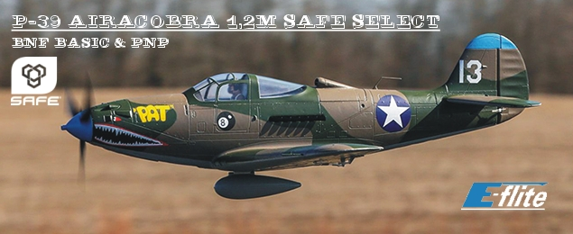 P-39 Airacobra 1.2m SAFE Select BNF Basic