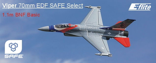 E-flite F-16 Falcon 0.7m SAFE Select BNF Basic
