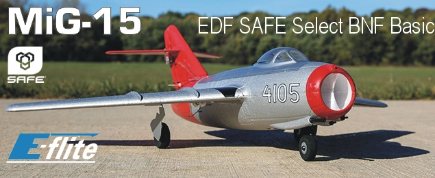 E-flite MiG-15 EDF 0.4m SAFE Select BNF Basic