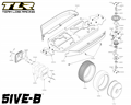 TLR 5IVE-B Buggy 1:5 Kit | Šasi