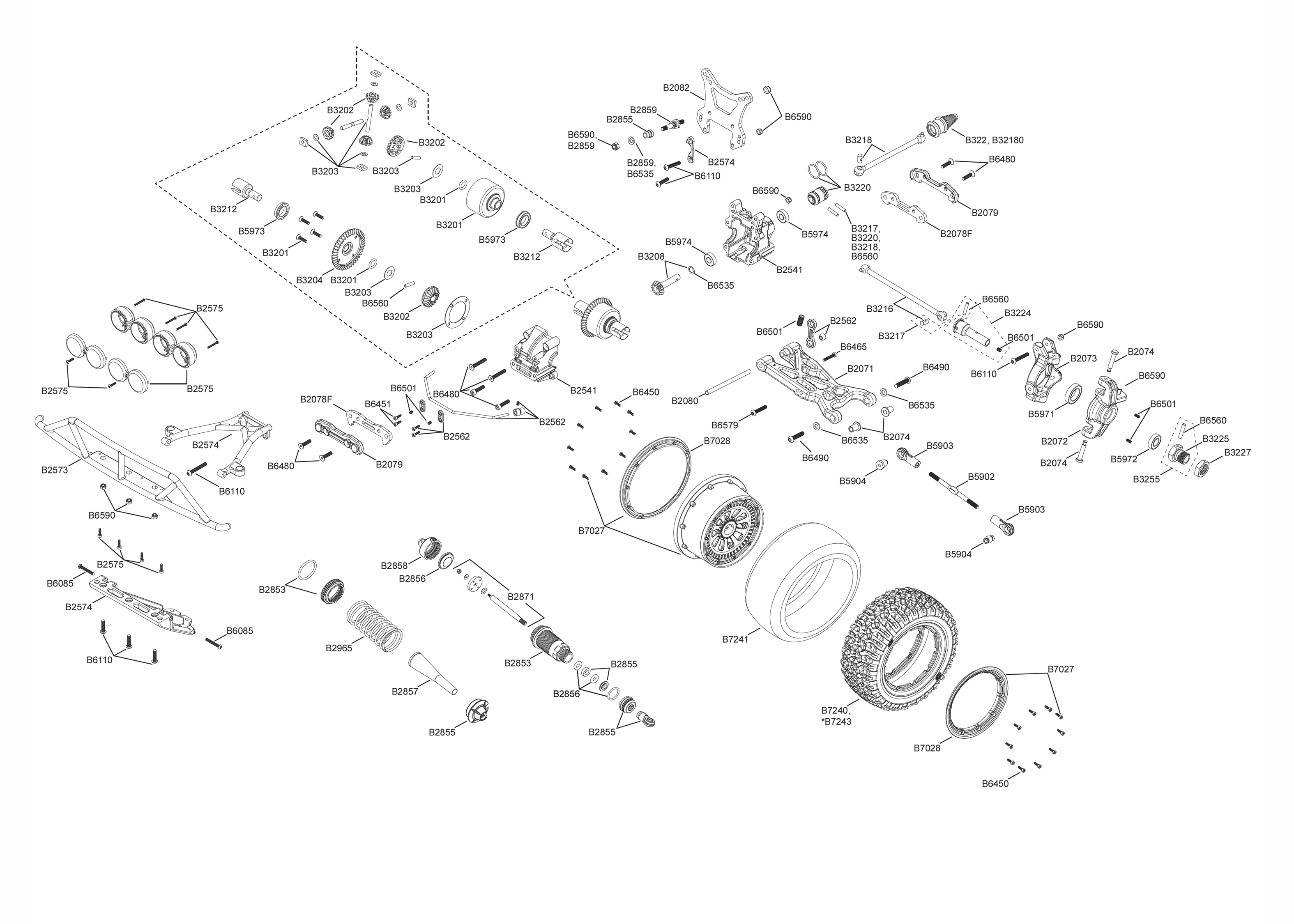 exploded view  losi 5ive
