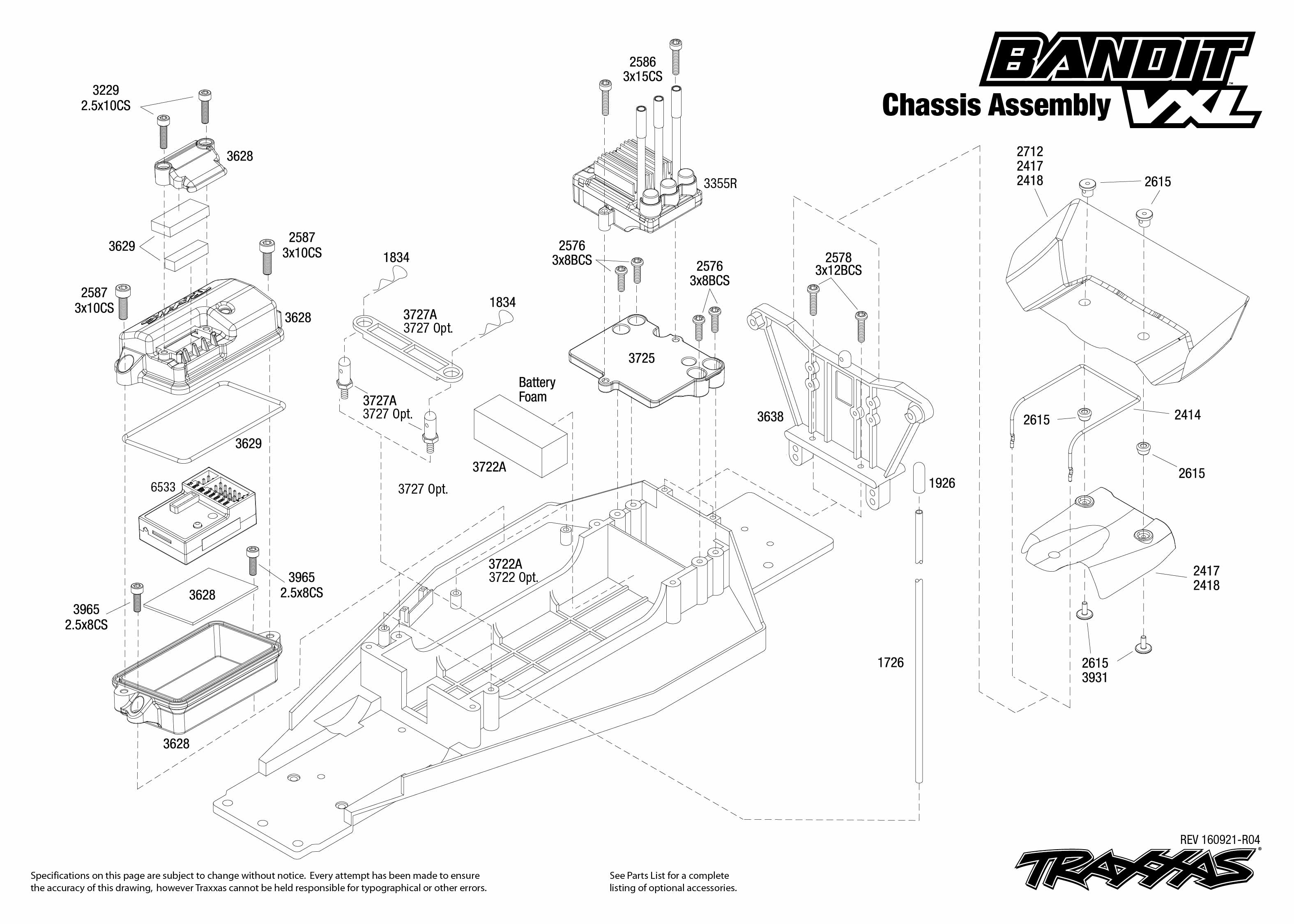 Pleasing Exploded View Traxxas Bandit 1 10 Vxl Tqi Bluetooth Ready Tsm Rt Wiring Database Ittabxeroyuccorg