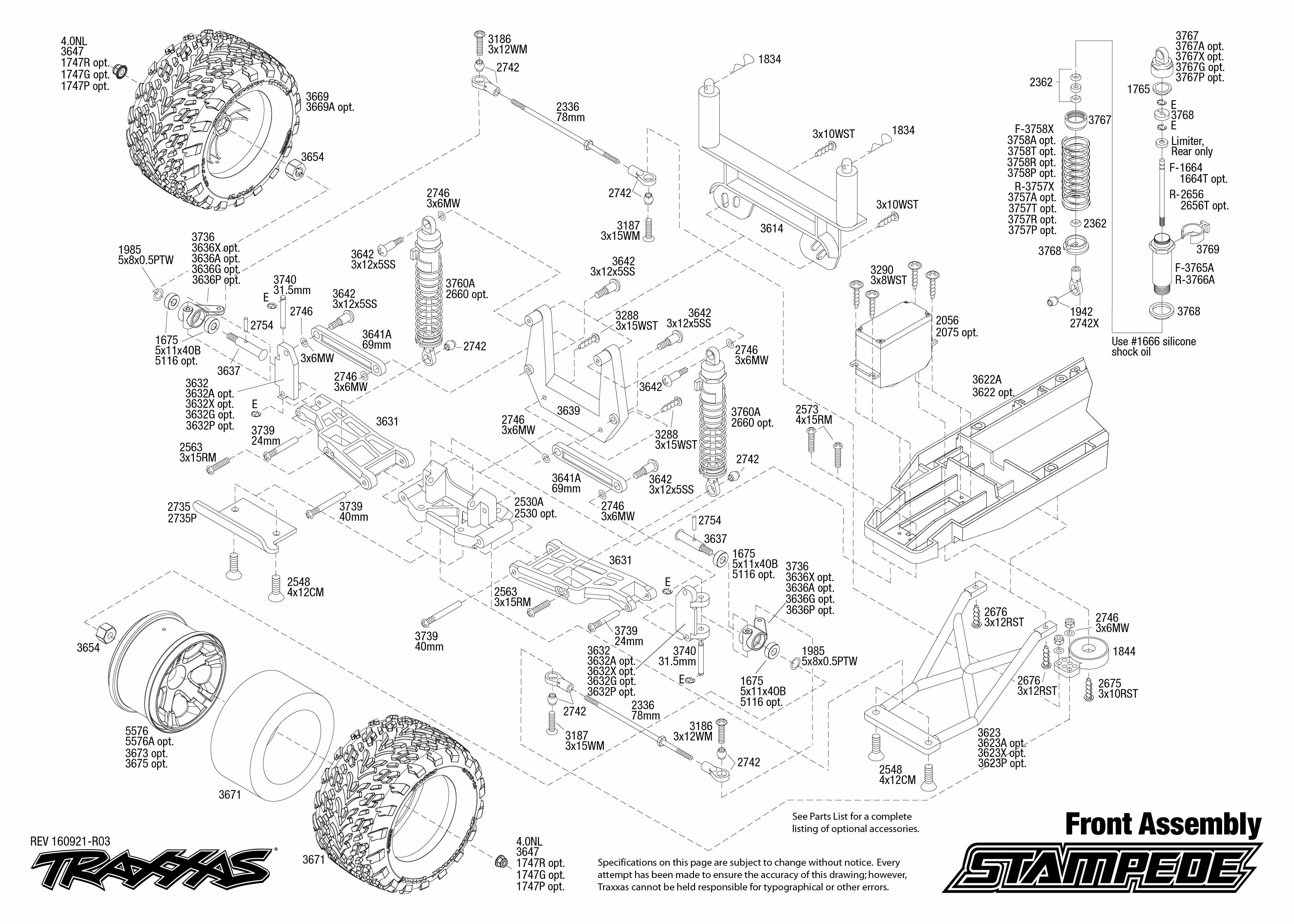 exploded view traxxas stampede 1 10 tq rtr front part astra rh astramodel cz traxxas stampede parts manual traxxas stampede 2wd parts manual