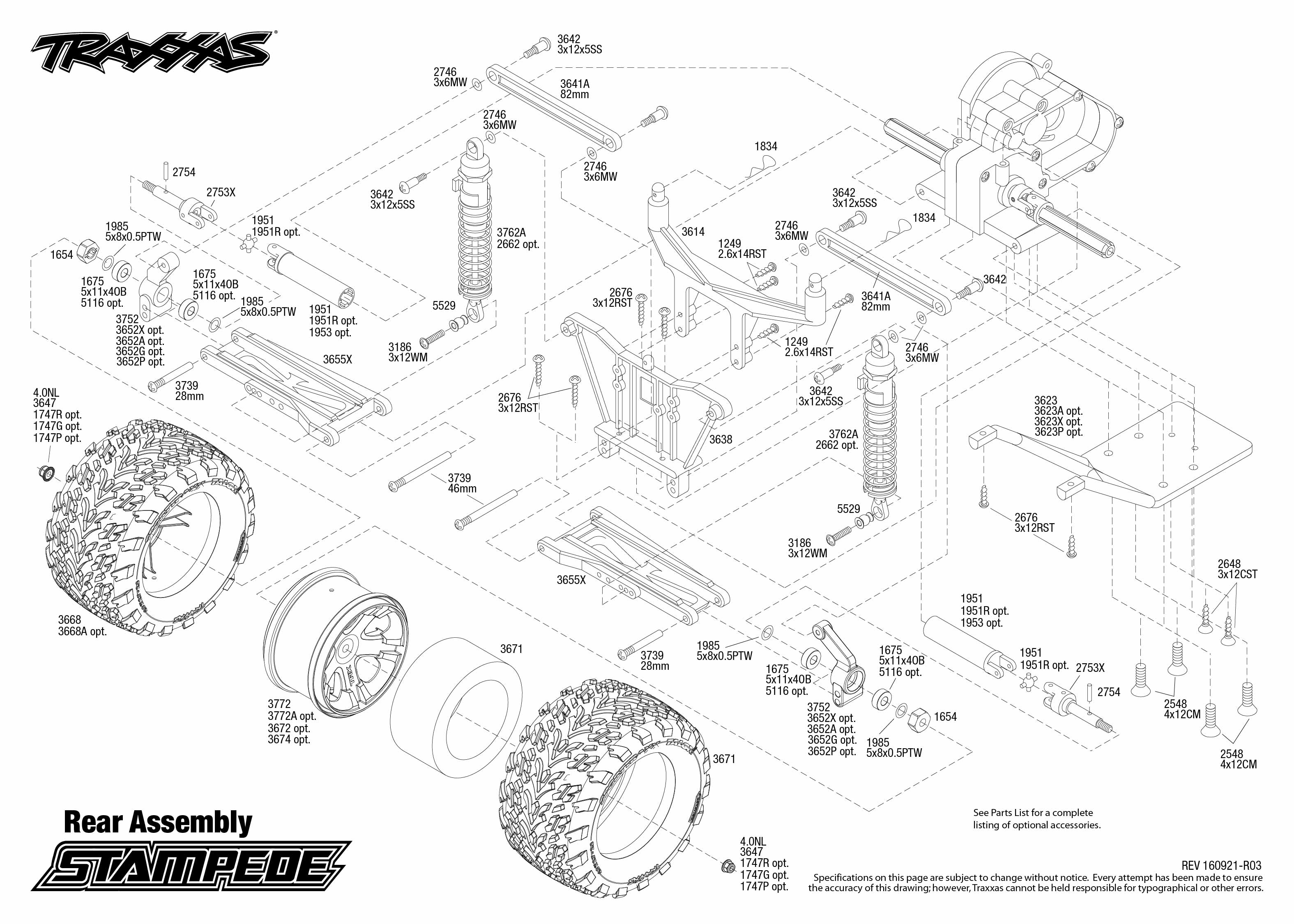 Traxxas Rustler Exploded View Rear 1 10 Scale 2wd Nitro Stadium Truck 44094 Stampede Tq Rtr Part Astra Rh Astramodel Cz
