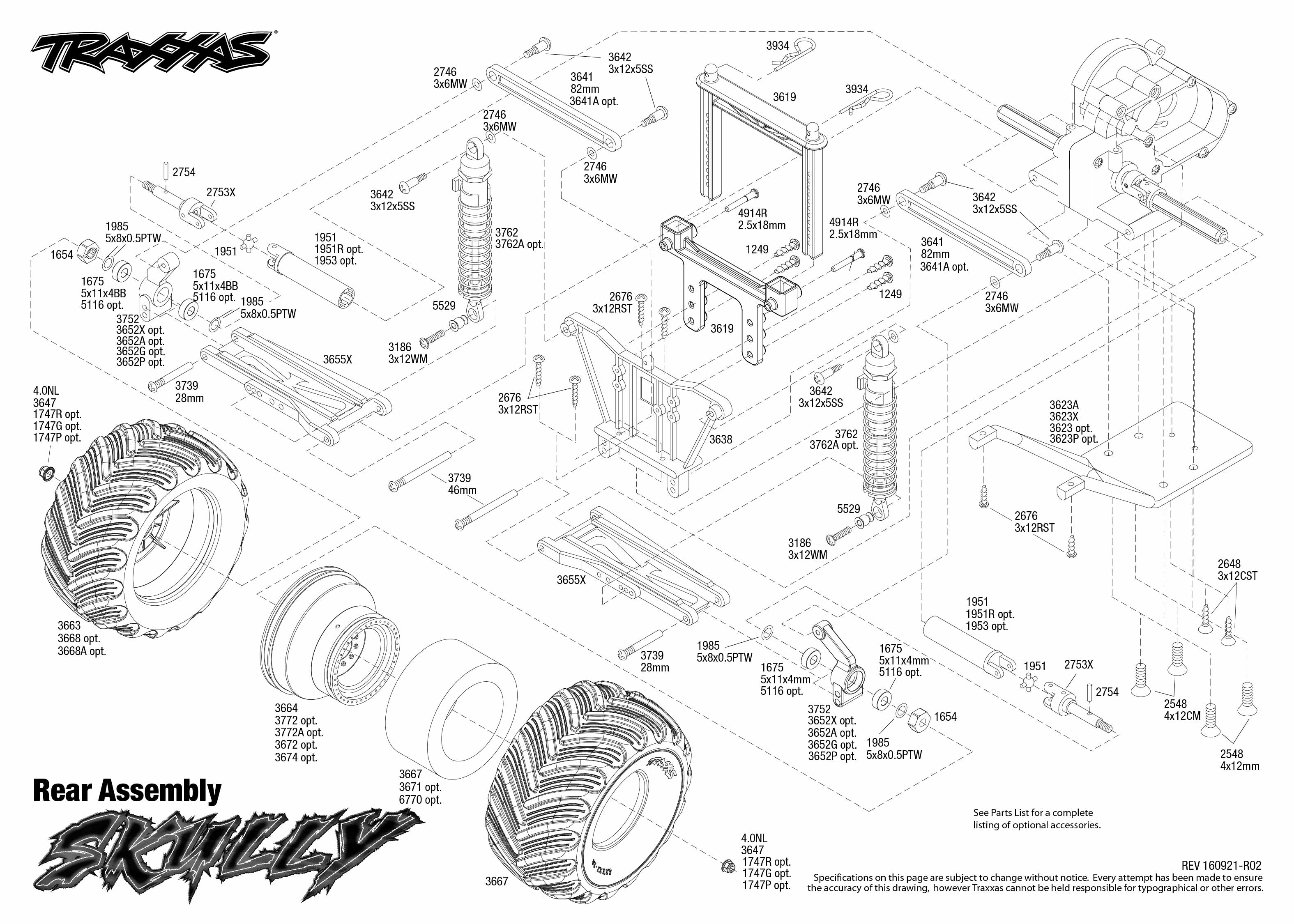 exploded view traxxas skully monster truck 1 10 tq rtr rear part rh astramodel cz traxxas stampede parts diagram traxxas summit parts diagram
