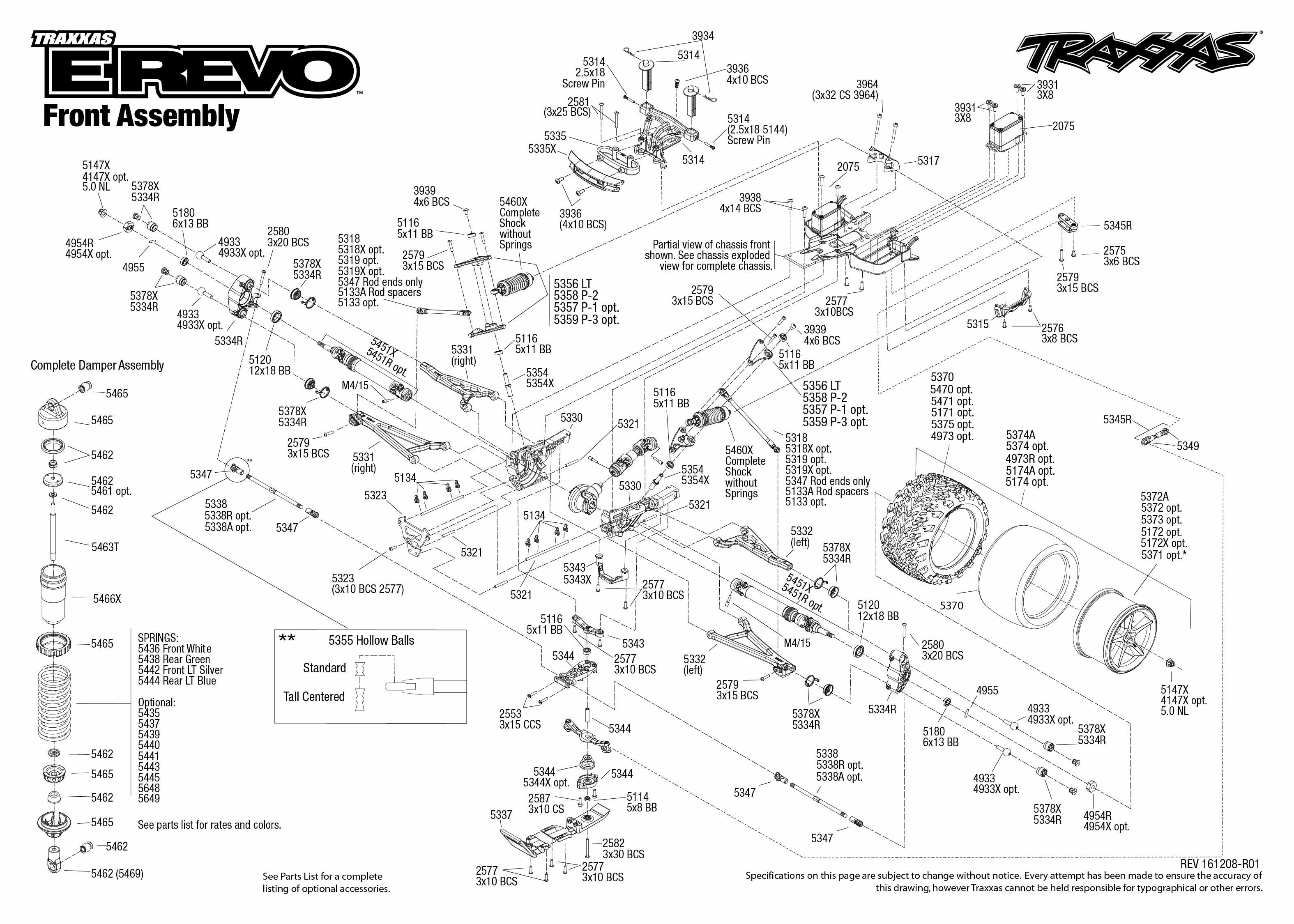 Exploded view: Traxxas E-Revo 1:10 TQi BlueTooth Ready TSM