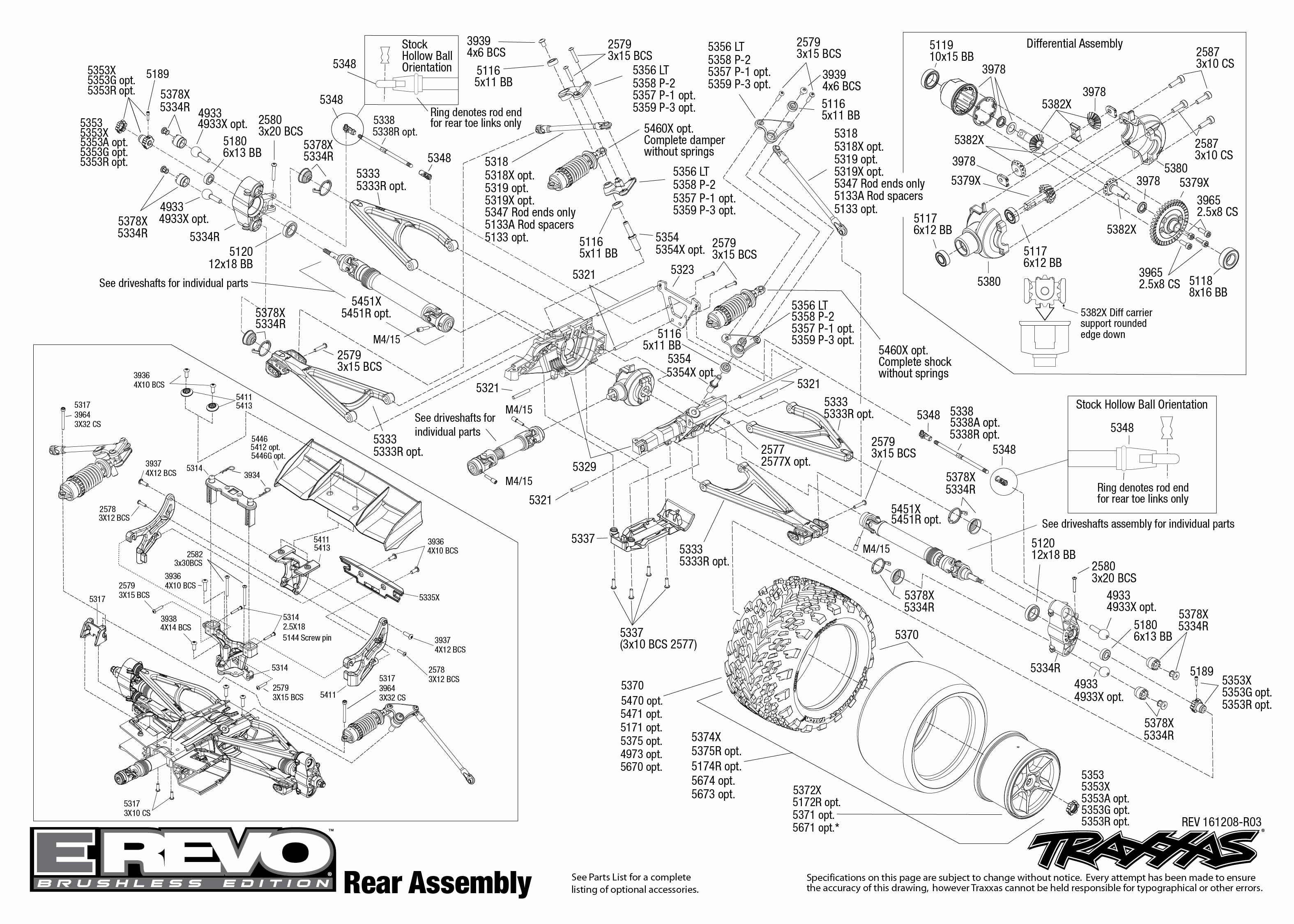 Traxxas E Revo Brushless Parts Diagram Wiring Libraries Stampede Vxl Monster Jam Replicas 3602 Exploded View 1 10 Tqi Tsm Rtr Bez Akuexploded