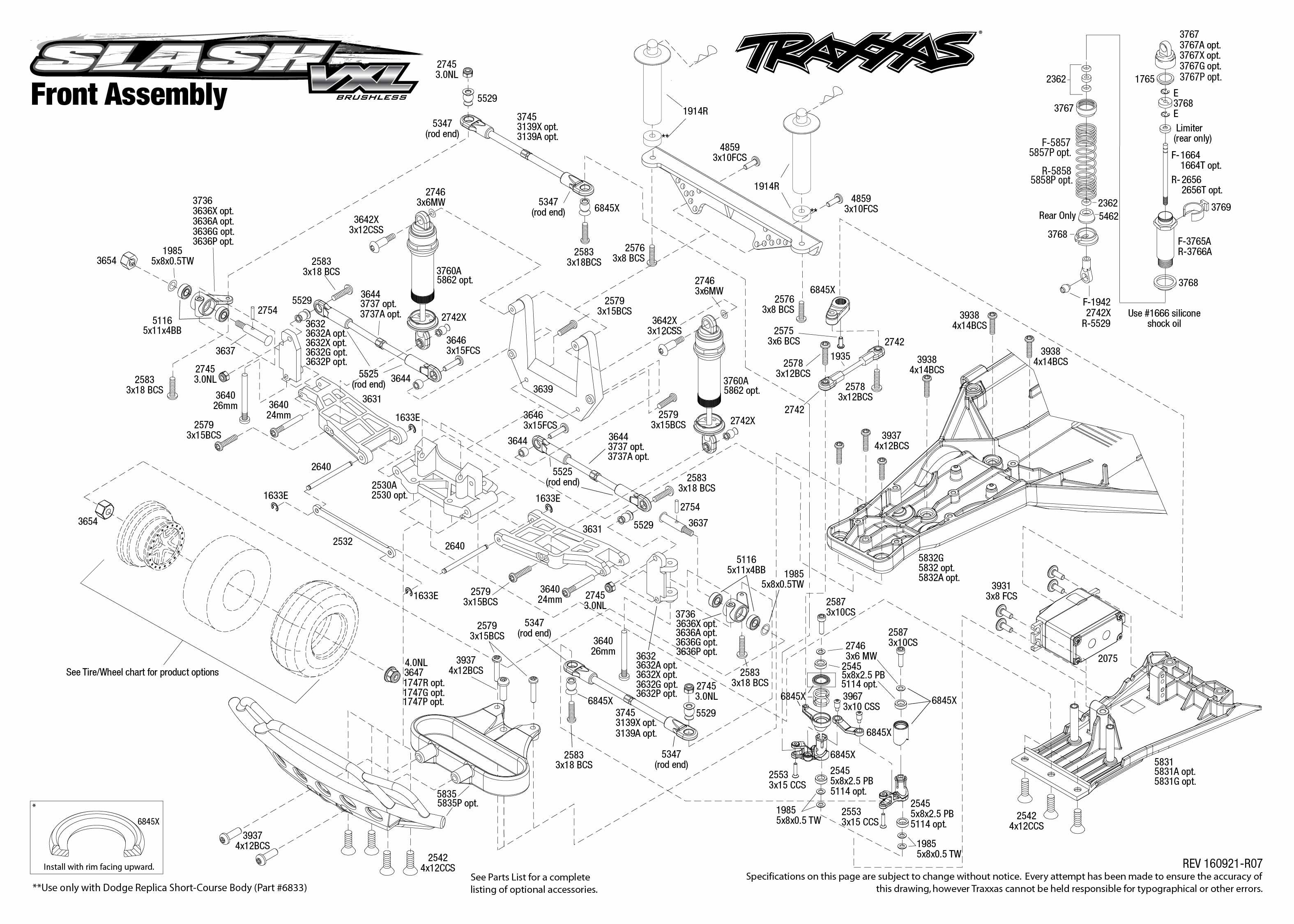 33 Traxxas Slash 2wd Parts Diagram