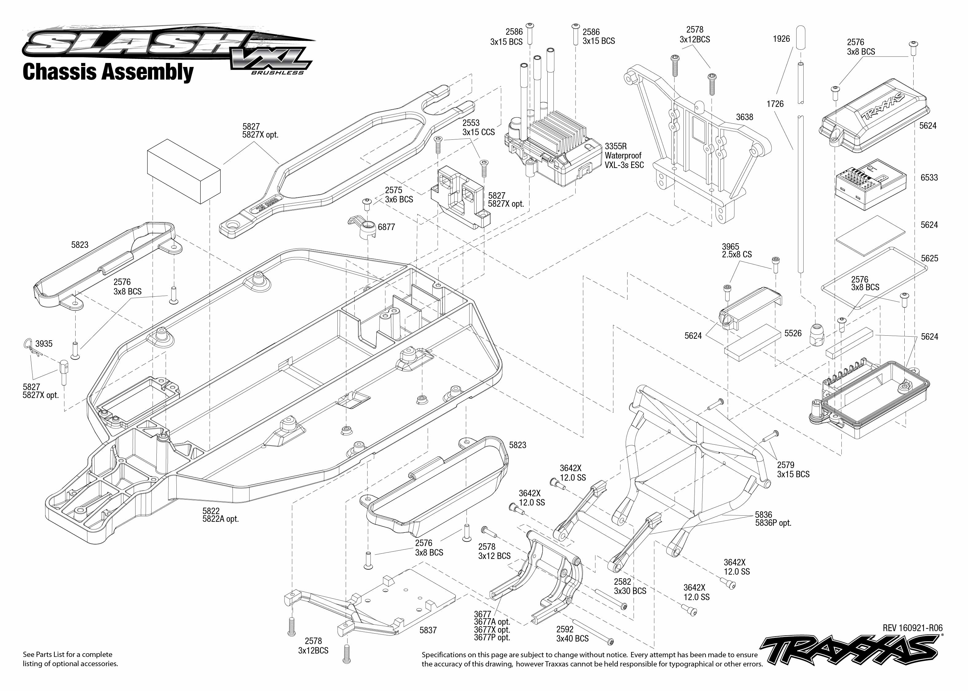 exploded view traxxas slash 1 10 vxl brushless tqi lcg tsm rtr chassis astra traxxas slash 2wd parts exploded view traxxas slash 2wd vxl parts diagram