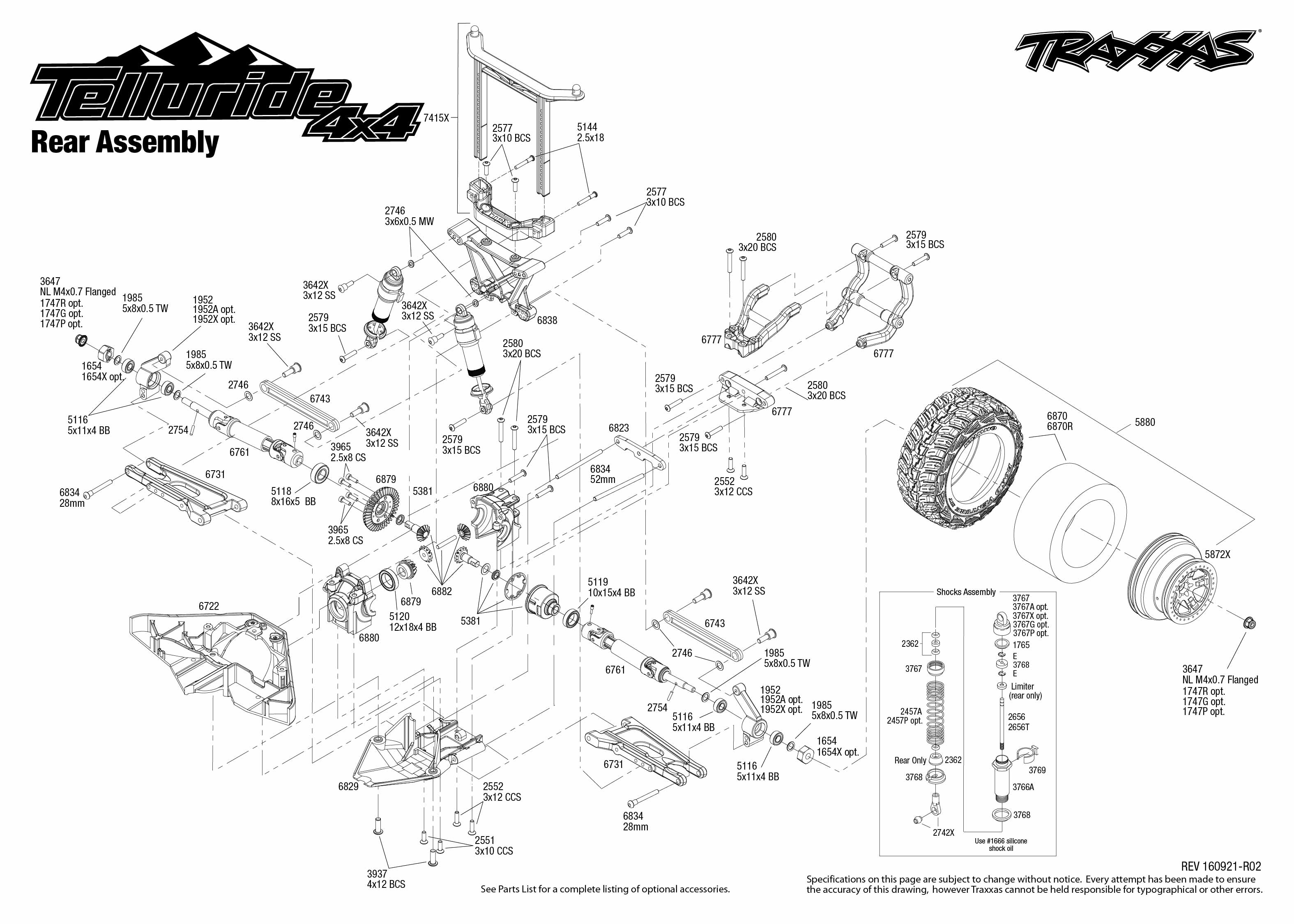 Exploded View Traxxas Telluride 110 4wd Tq Rtr Rear Part Astra Jeep Wire Harness Color Code