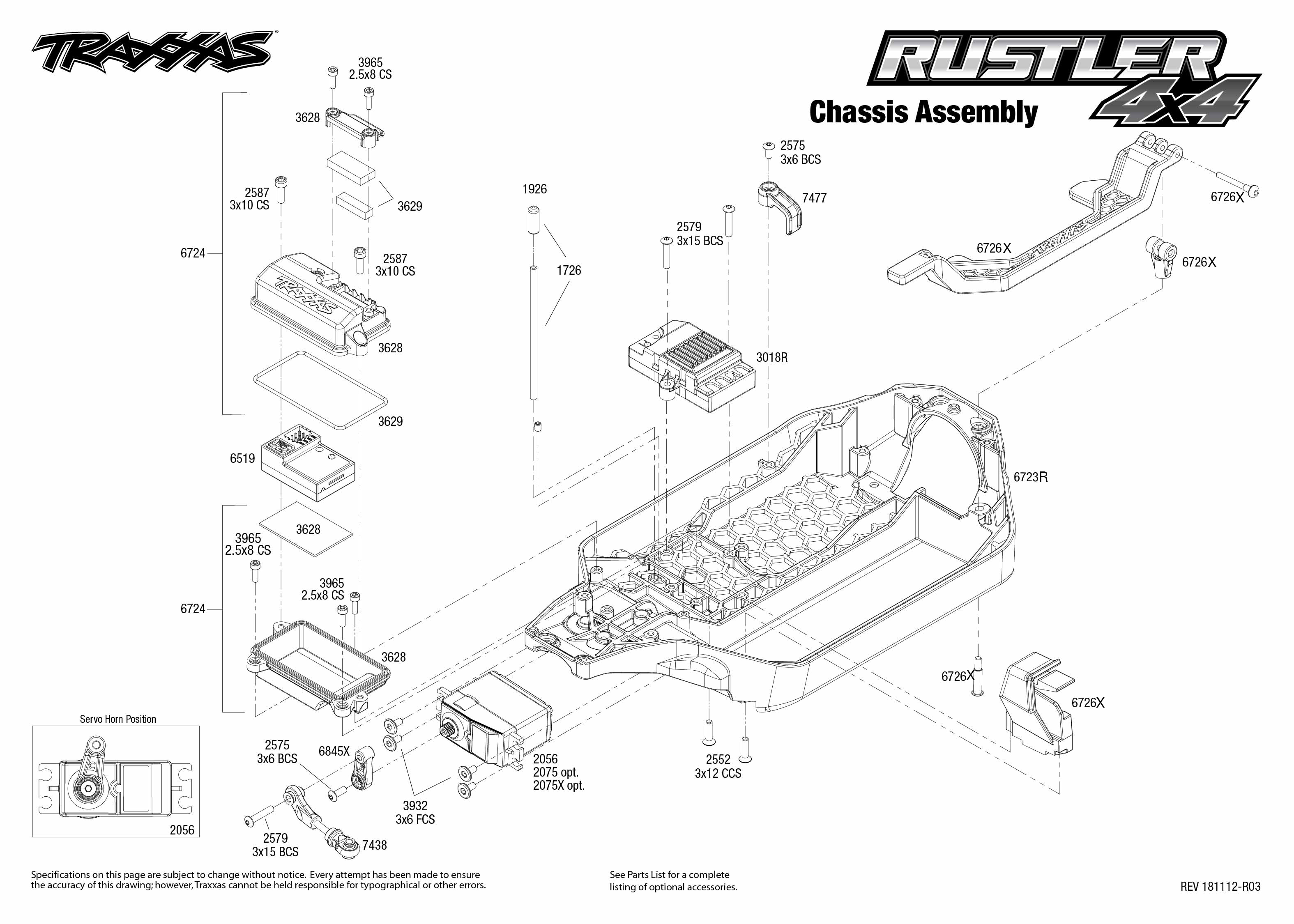 Exploded View  Traxxas Rustler 1 10 4wd Rtr