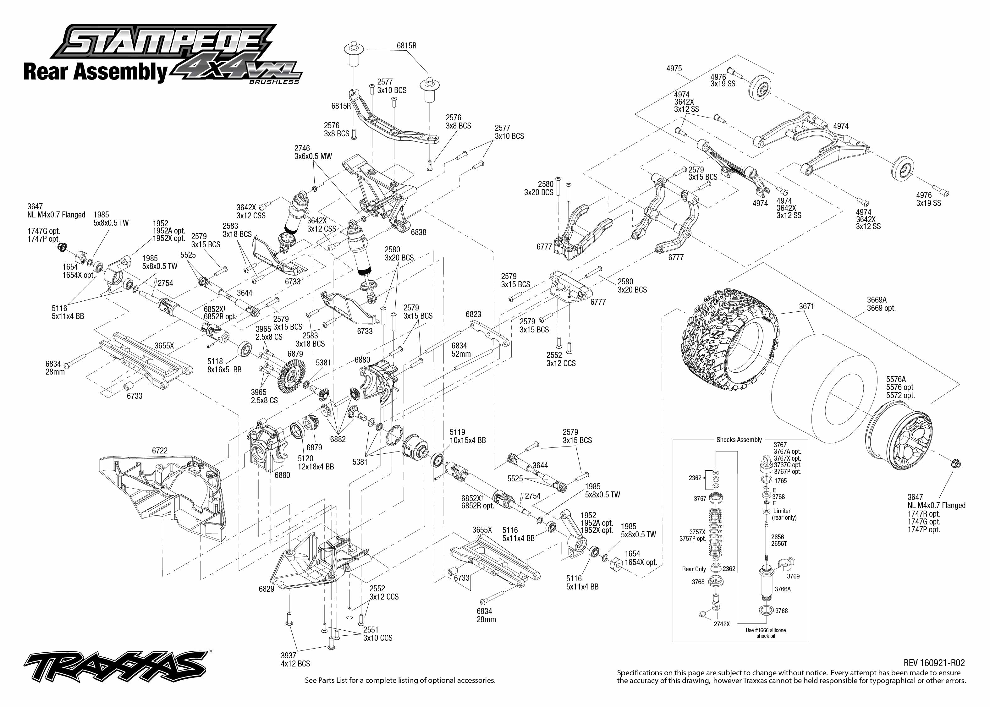 Traxxas Slash 2wd Manual Parts Rustler Brushed Quick Start Exploded View Free User Guide U Co Stampede Vxl 3150x2250