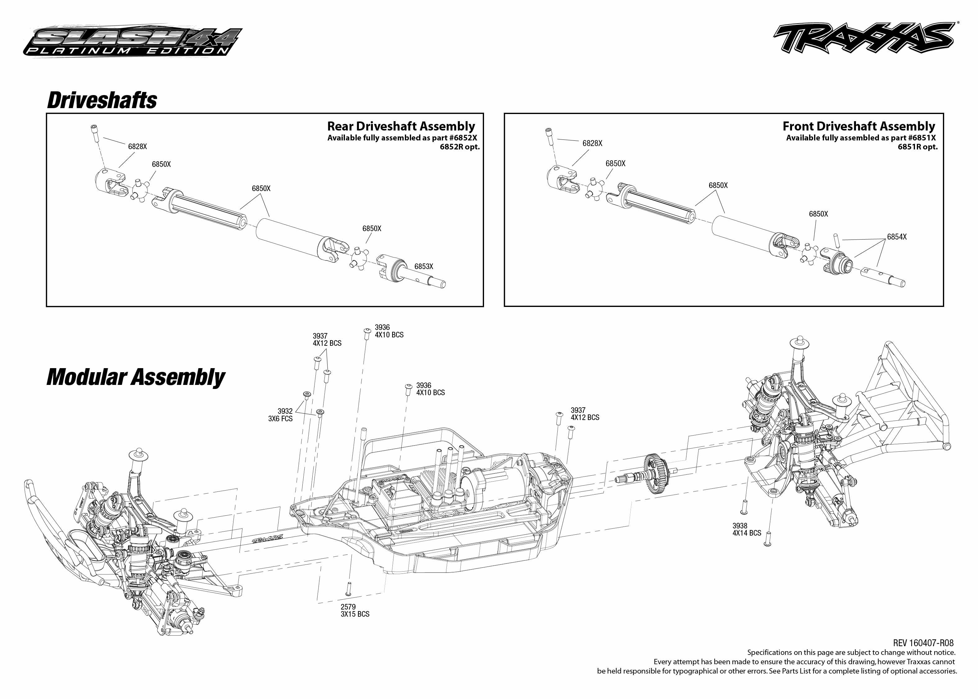 Traxxas Slash 4x4 Wiring Diagram Detailed Diagrams Schematic Parts List Circuit