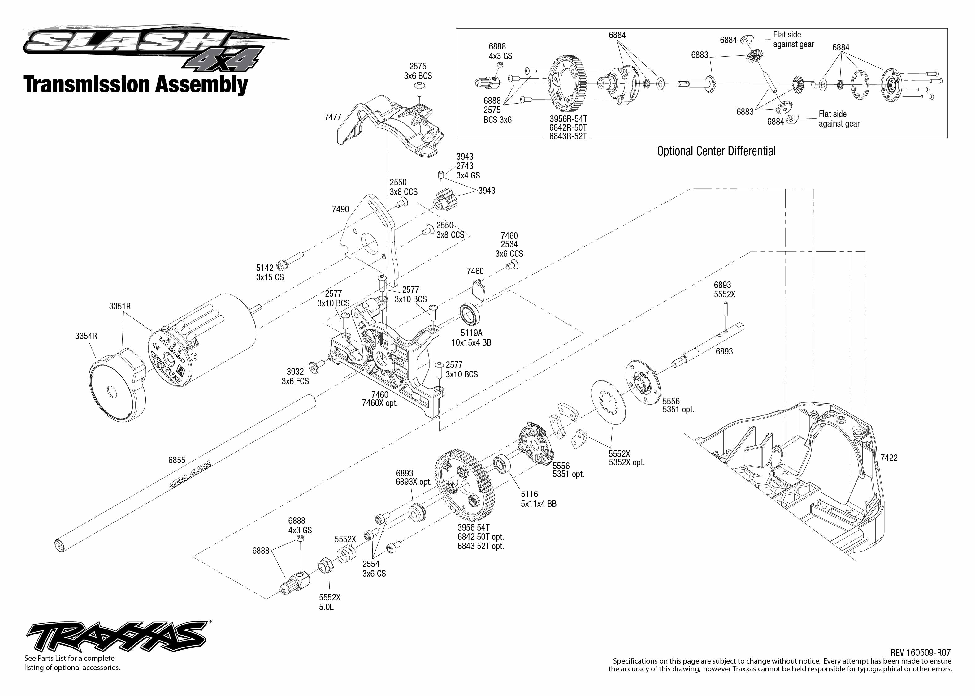 Rear together with Tqi Exploded Views Driveshafts Assembly in addition Transmission furthermore Traxxas Slash On Board Audio likewise Image. on traxxas slash 2wd parts diagram