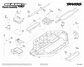 Traxxas Slash 1:10 4WD VXL TQi BlueTooth Ready TSM | Šasi