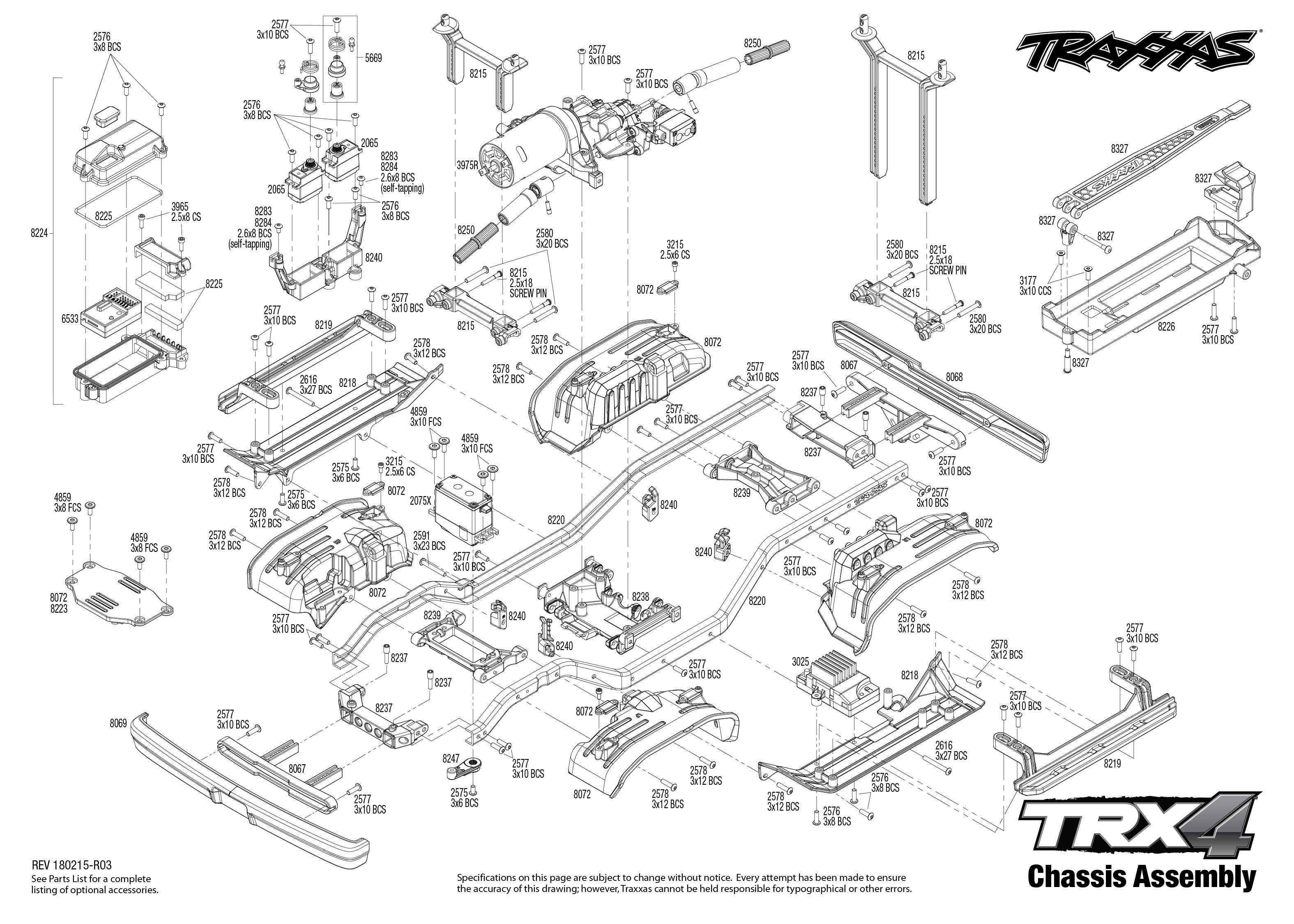 Exploded view: Traxxas TRX-4 Ford Bronco 1:10 TQi RTR