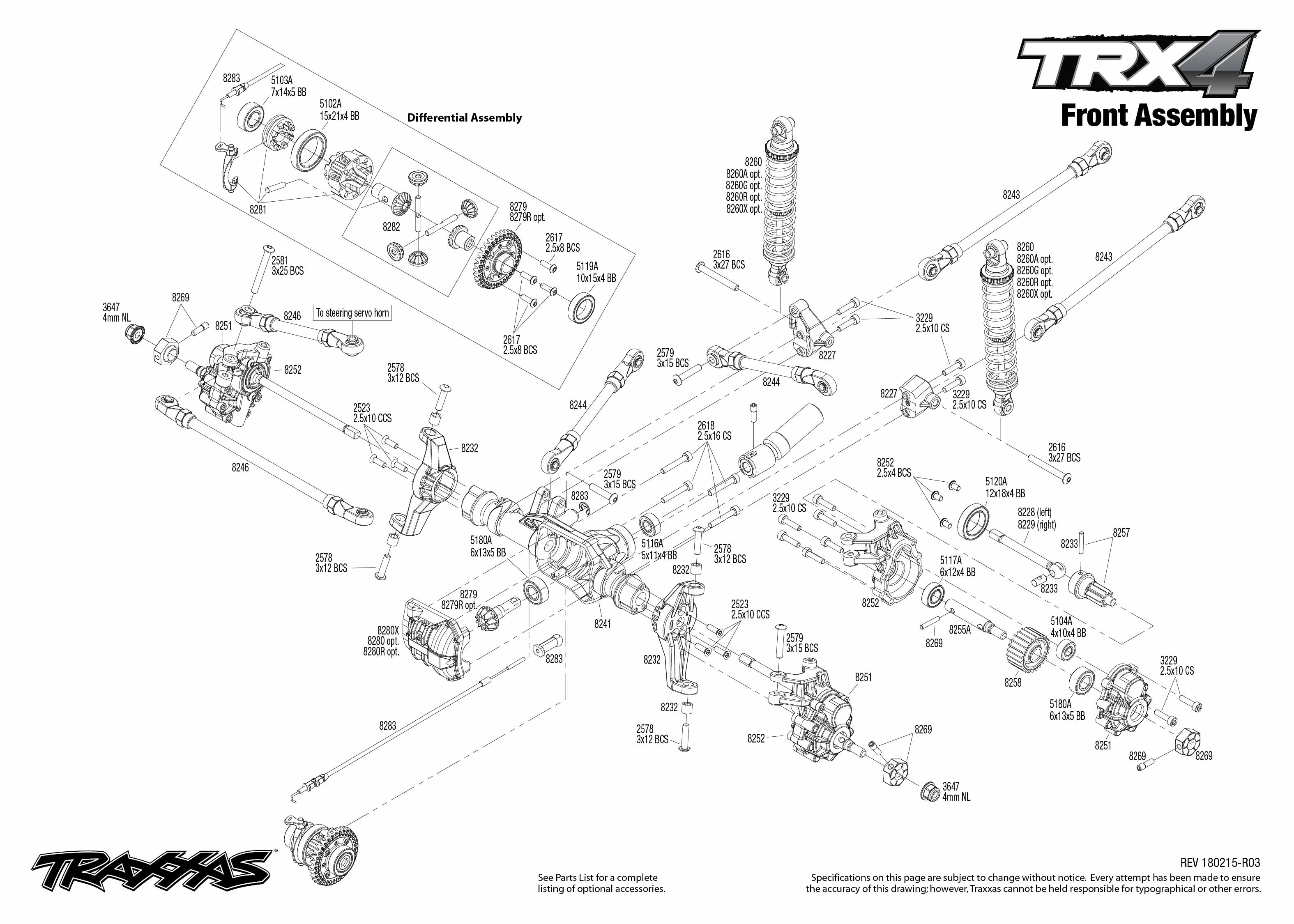 Exploded view: Traxxas TRX-4 Ford Bronco 1:10 TQi RTR