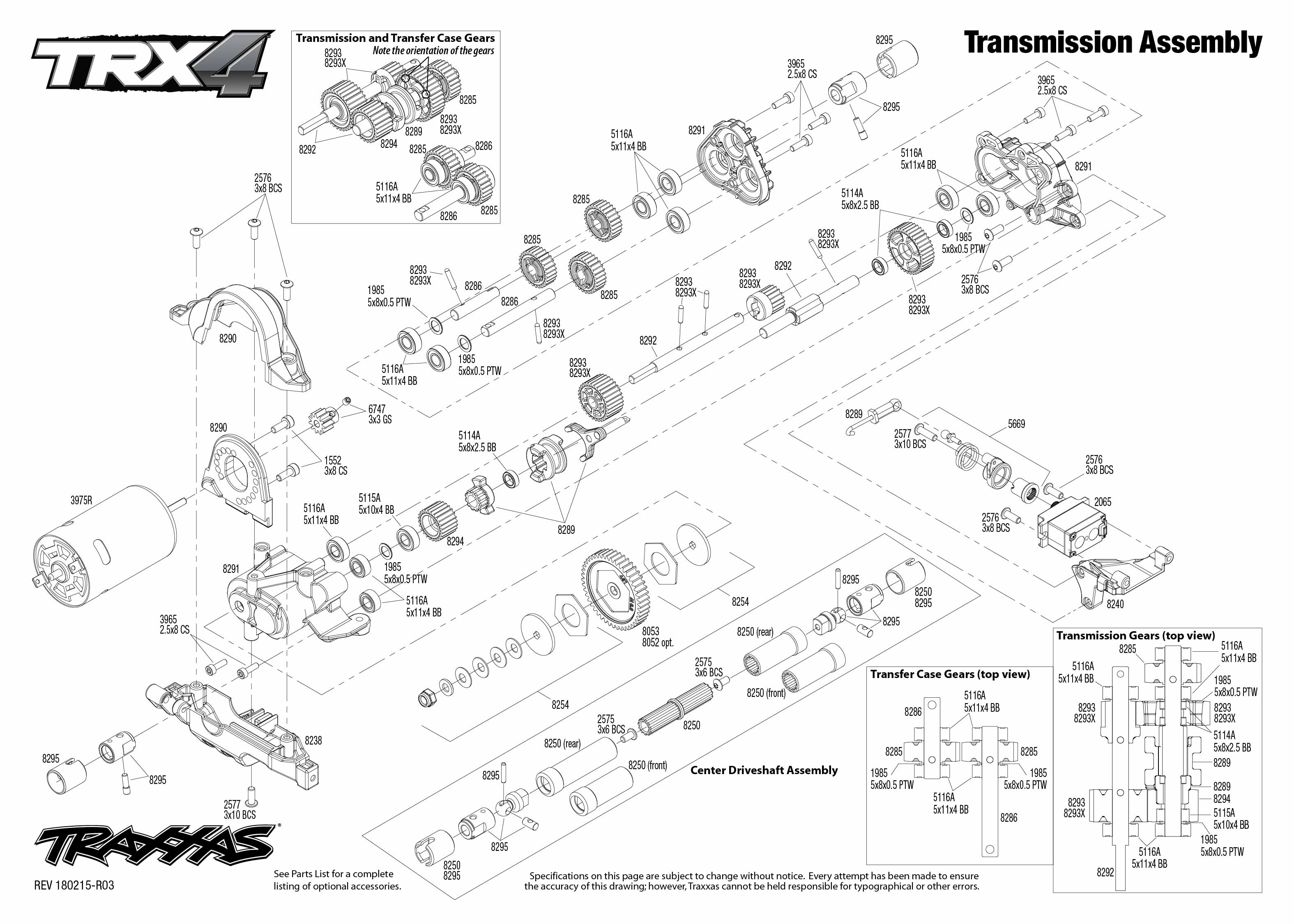 Exploded view: Traxxas TRX-4 Mercedes G500 1:10 TQi RTR