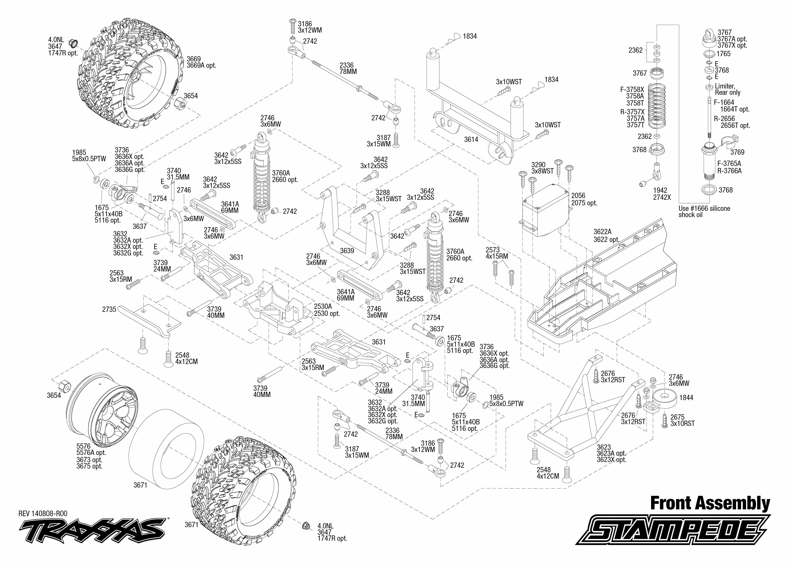 exploded view  traxxas stampede 1 10