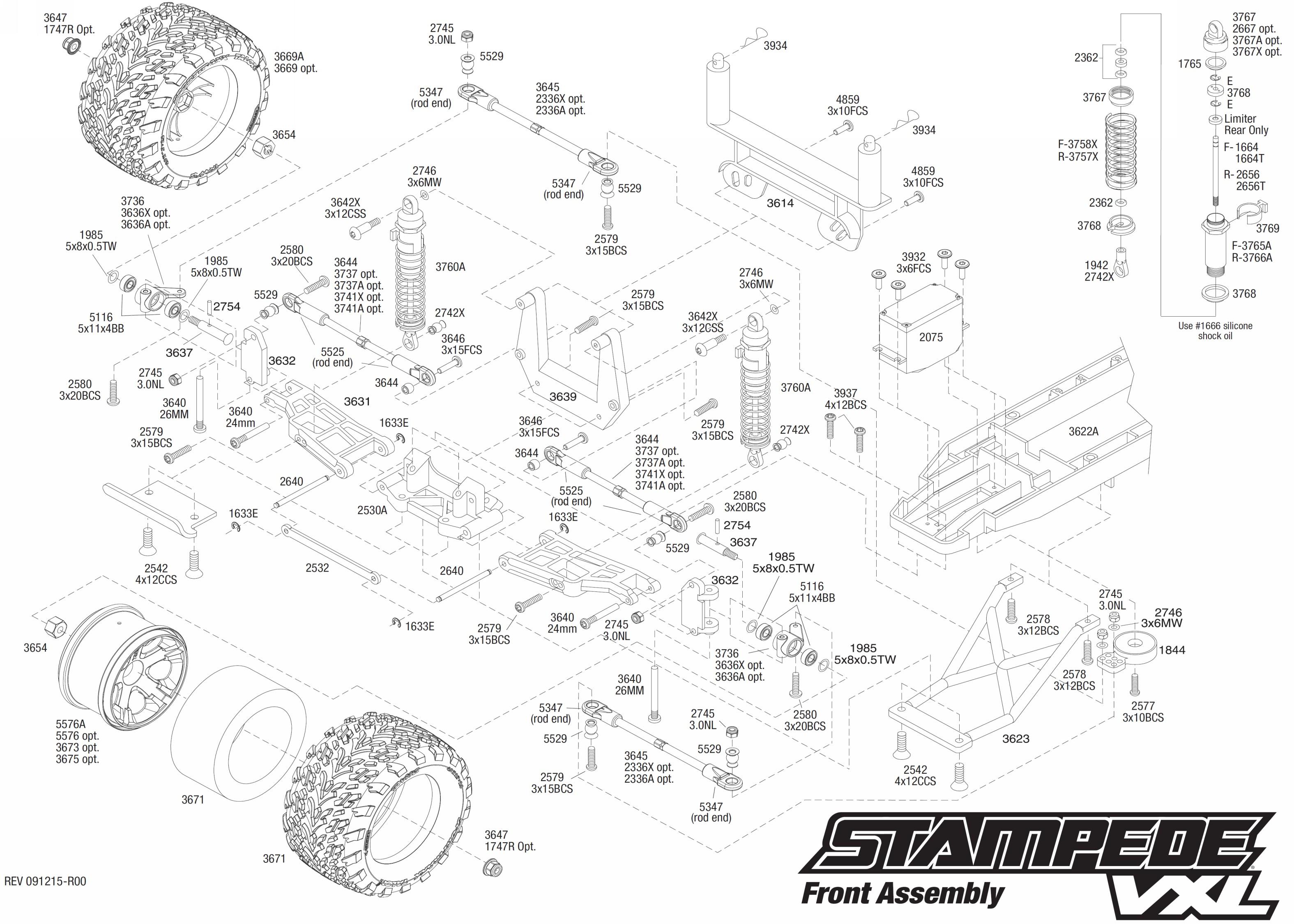 Traxxas Stampede Vxl Parts Diagram