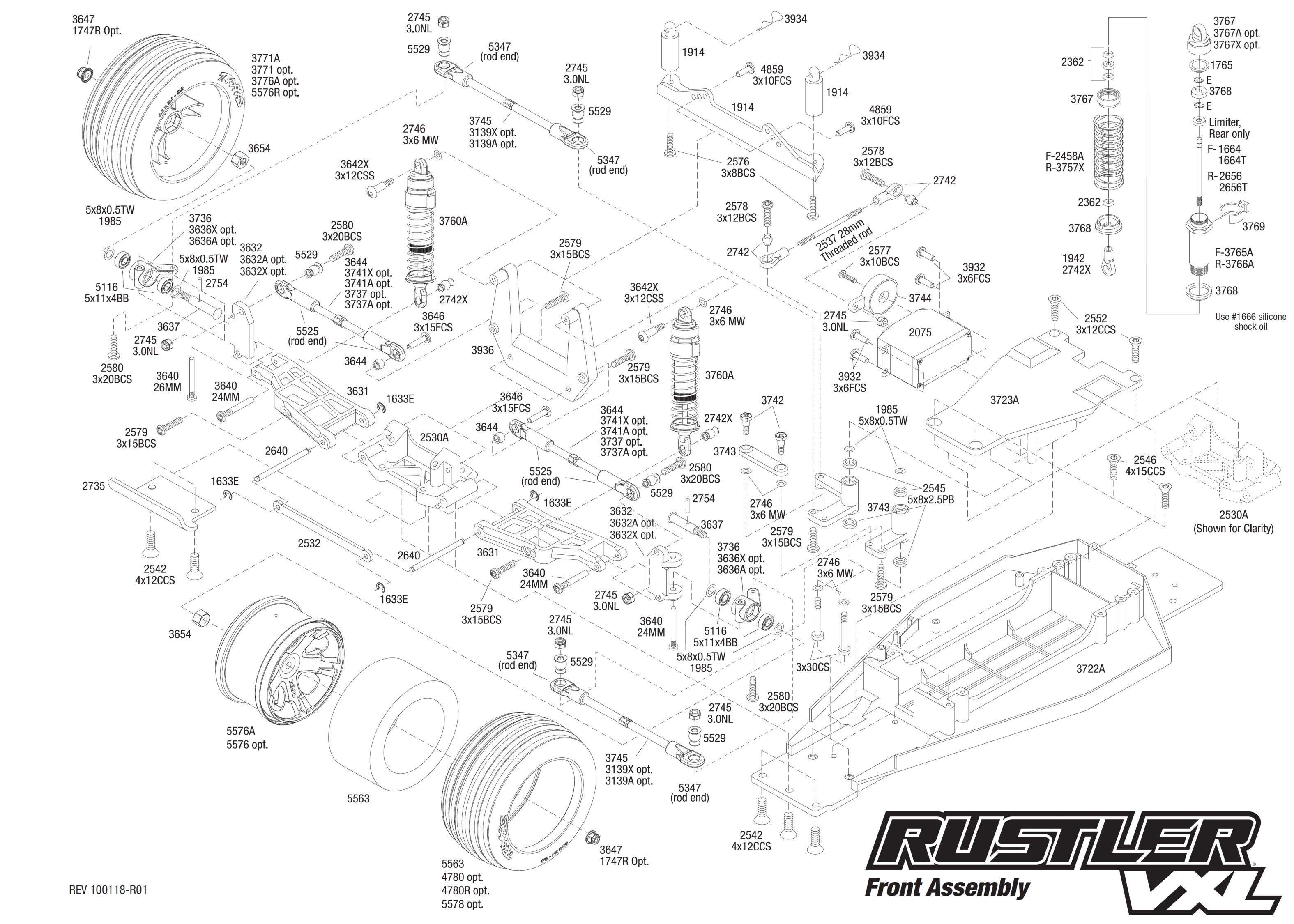 Traxxas Rustler Diagram Free Wiring For You Parts Exploded View Vxl 1 10 Front Part Astra Rh Astramodel Cz Nitro