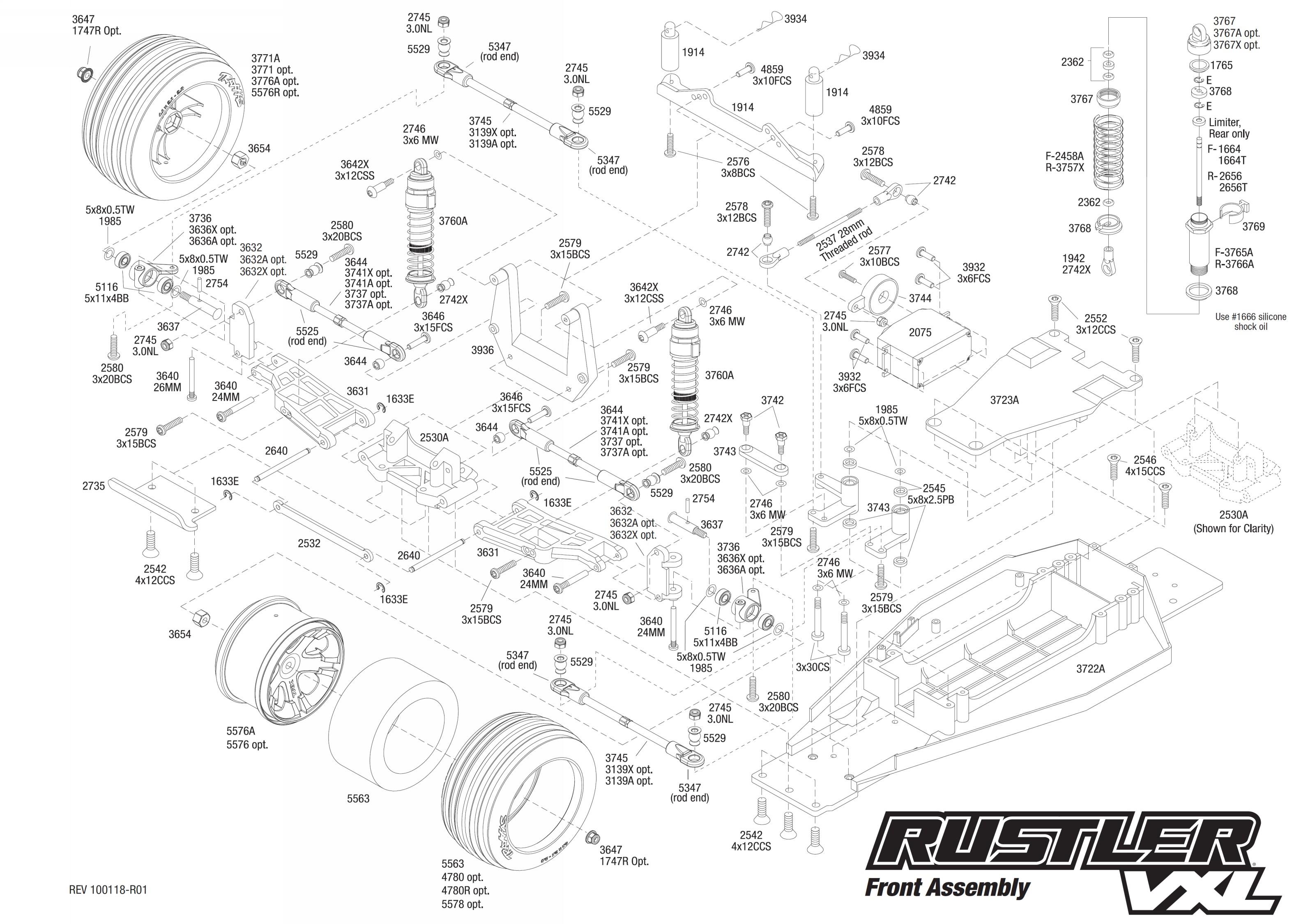 Traxxas Rustler Parts Diagram